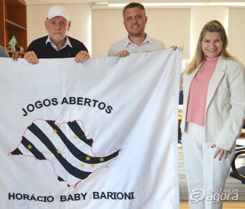 Bandeira dos Jogos Abertos está em São Carlos - Crédito: Divulgação
