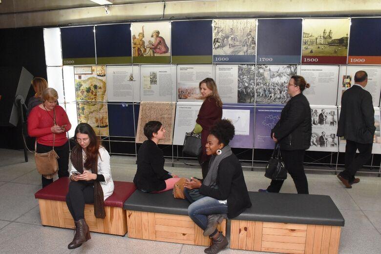 Exposição da Língua Portuguesa pode ser visitada no Teatro Municipal - Crédito: Divulgação
