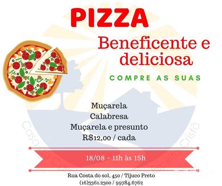 Pizza Beneficiente Casa do Caminho acontece neste sábado (18) -