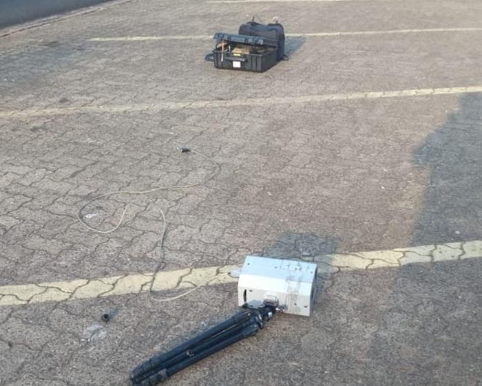 Em três dias, segundo ato de vandalismo contra radar móvel em São Carlos - Crédito: Luciano Lopes