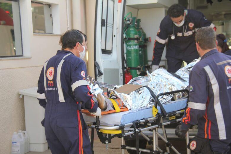 Operário sofre traumatismo craniano após acidente de trabalho no Damha II - Crédito: Maycon Maximino