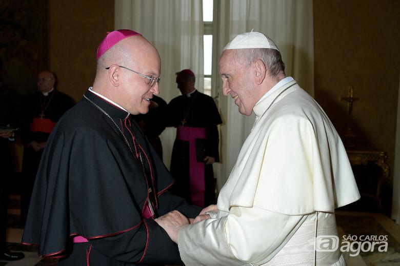 Dom Eduardo Malaspina se encontra com Papa Francisco - Crédito: Vatican News