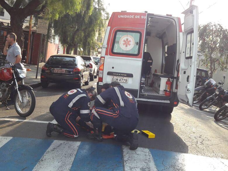 Acidente no centro deixa um ferido - Crédito: Maycon Maximino