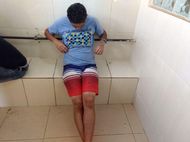 Desocupado é flagrado com maconha e crack no Boa Vista - Crédito: Luciano Lopes