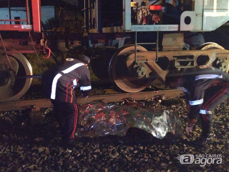 Mulher é cortada ao meio ao tentar cruzar linha férrea - Crédito: Luciano Lopes