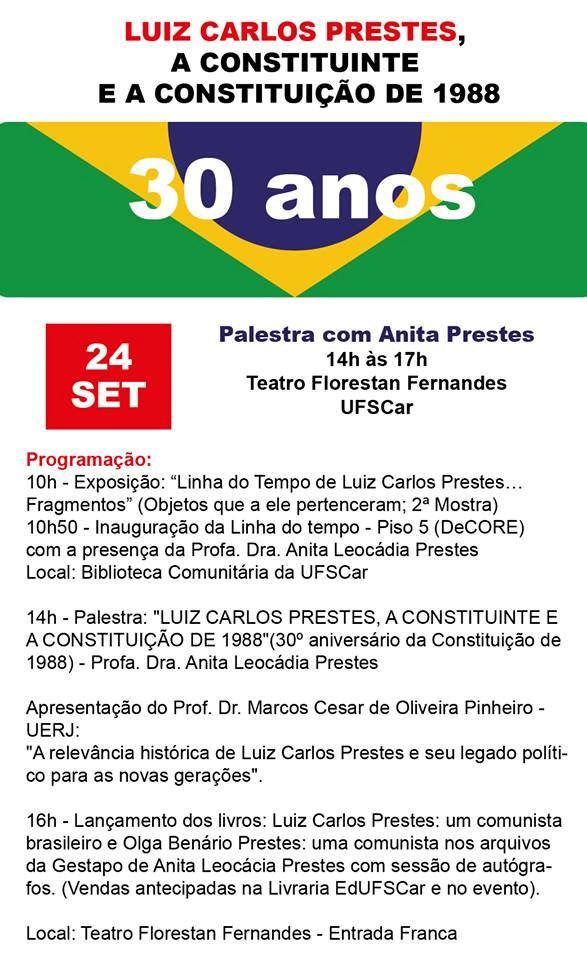 Anita Prestes profere palestra e inaugura mostra na UFSCar -