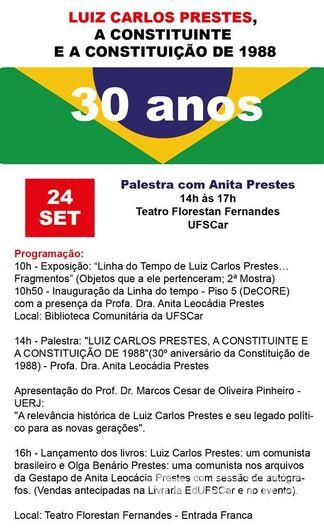 Anita Prestes profere palestra e inaugura mostra na UFSCar nesta segunda-feira, 24 -