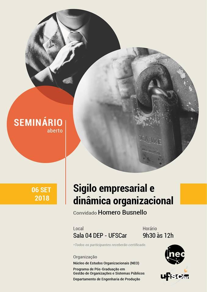 Sigilo empresarial é tema de evento promovido na UFSCar -