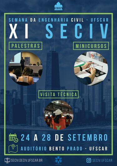 Semana da Engenharia Civil da UFSCar acontece de 24 a 28 de setembro -
