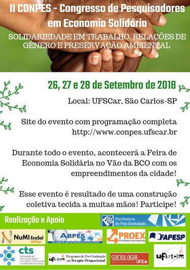 UFSCar sedia II Congresso de Pesquisadores de Economia Solidária -