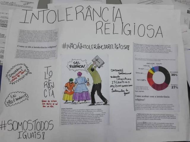 Trabalho escolar sobre LGBT e intolerância religiosa causa polêmica em São Carlos - Crédito: Divulgação