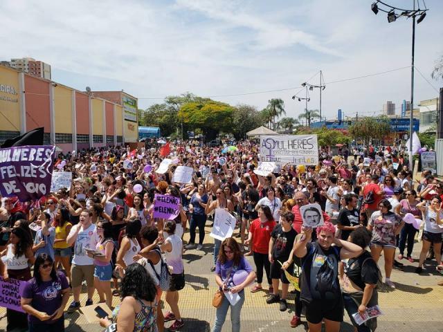 Protesto contra Bolsonaro reúne 1,5 mil pessoas, estimam organizadores - Crédito: Abner Amiel/Folha São Carlos e Região