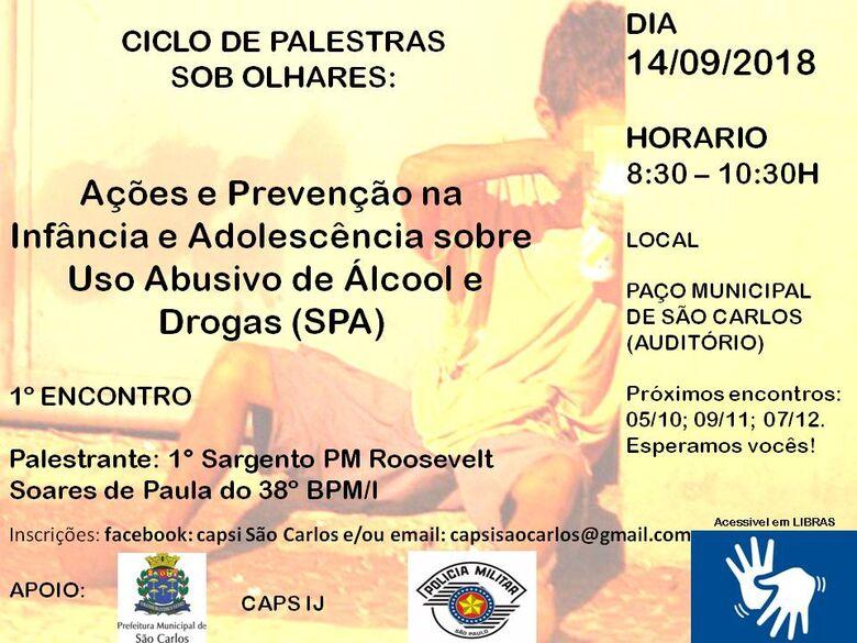 Palestra irá abordar métodos para se prevenir uso do álcool e drogas -