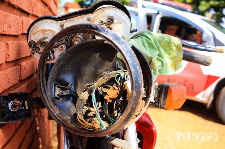 Motociclista sofre grave acidente entre Santa Eudóxia e Água Vermelha - Crédito: Marco Lucio