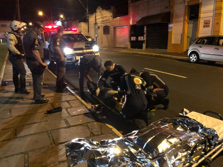 Homem tenta matar casal a facadas - Crédito: Araraquara 24 h