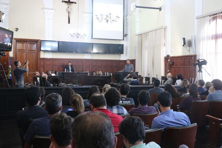 Sala das sessões da Câmara durante primeira audiência pública do PDI do IFSP para os próximos 5 anos - Crédito: Divulgação
