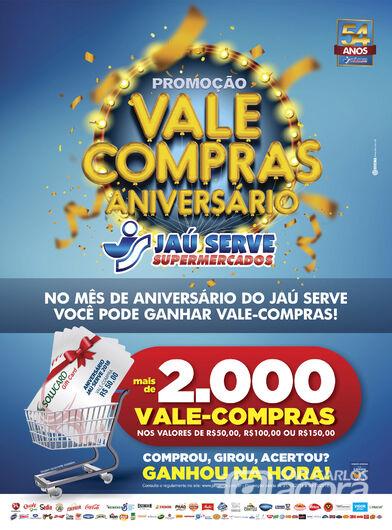 79b1557c2 No aniversário do Supermercados Jaú Serve o presente é seu - São ...