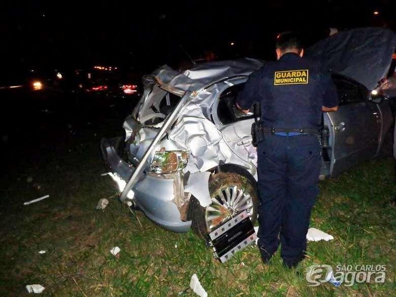 Casal de Ibaté sofre grave acidente na Washington Luís - Crédito: Rota das Notícias