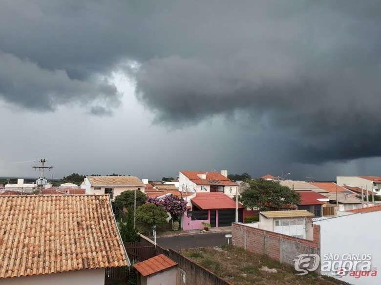 Defesa Civil alerta para chuva forte na noite deste domingo em São Carlos - Crédito: Divulgação