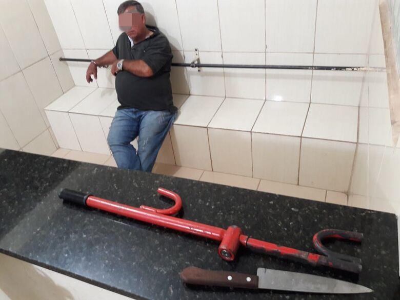 'Ex' queria agredir mulher e filho no Santa Felícia - Crédito: Maycon Maximino