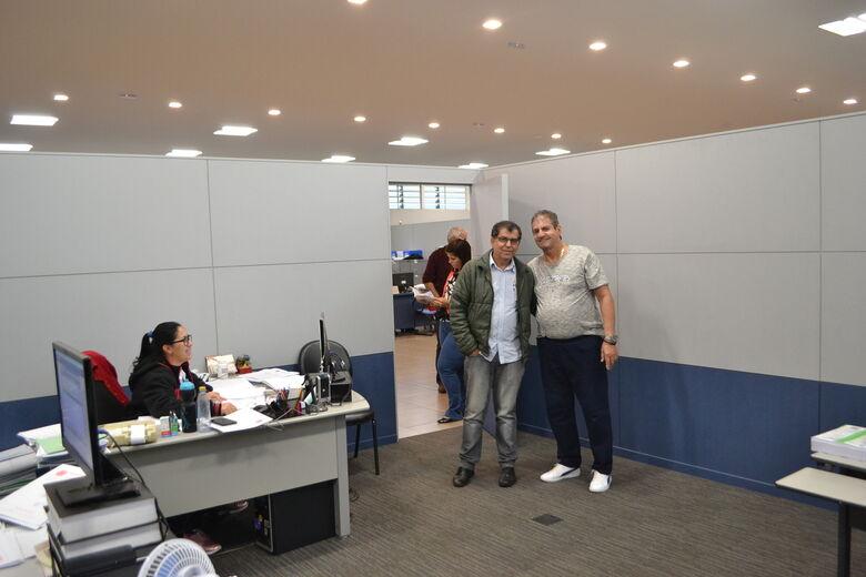 Zé Parella recebe a visita do prefeito de Brodósqui - Crédito: Divulgação