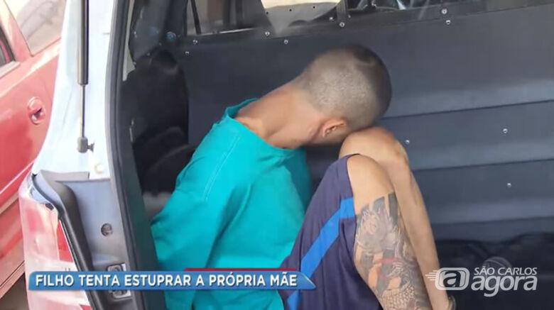 Filho é acusado de tentar estuprar a mãe no interior de SP - Crédito: Record Rio Preto