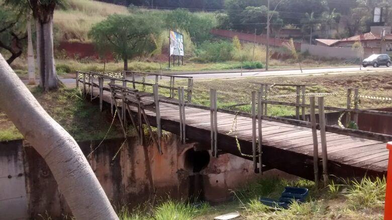 Pontes na região do Sesc são avaliadas em R$ 150 mil - Crédito: Divulgação