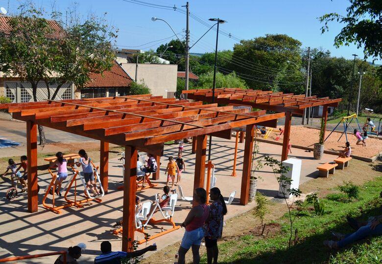 Praça Ely Paulo Venâncio é inaugurada no Jardim Beatriz - Crédito: Divulgação