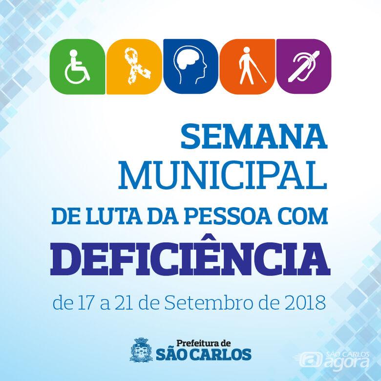 Semana Municipal de Luta da Pessoa com Deficiência será realizada de 17 a 21 de setembro -