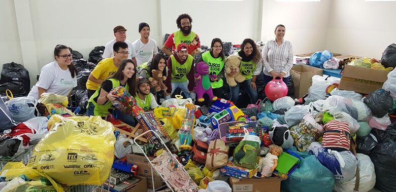 Estudantes doam brinquedos, roupas e calçados para o Fundo Social - Crédito: Divulgação