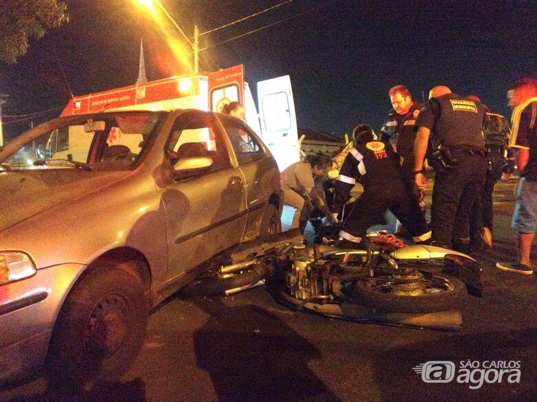 Motociclista sofre fratura no fêmur após colisão no Santa Felícia - Crédito: Luciano Lopes