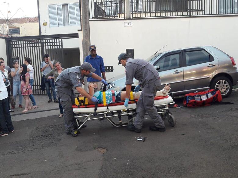 Pai e filha ficam feridos em acidente no Beatriz - Crédito: Maycon Maximino