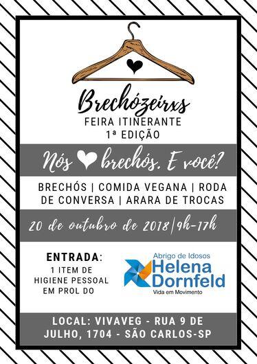 1ª Feira de Brechós é organizada por estudantes da Fatec e do Senac São Carlos -