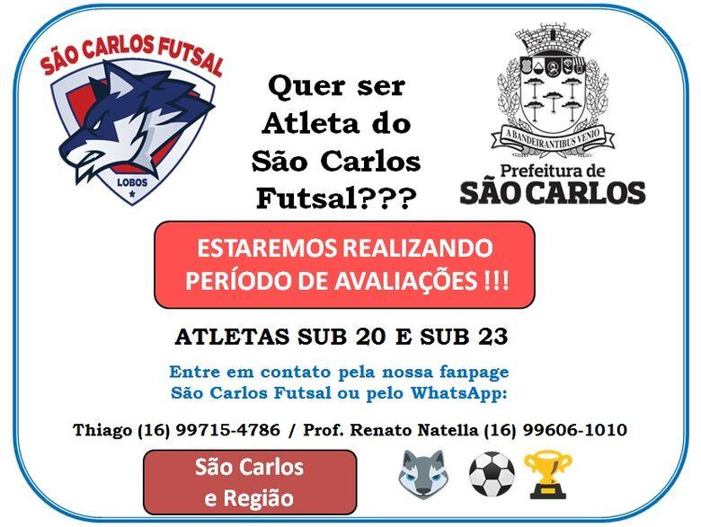 São Carlos Futsal inicia período de avaliações -