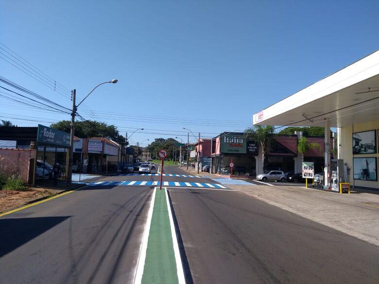 Prefeitura está revitalizando a avenida São Carlos - Crédito: Divulgação