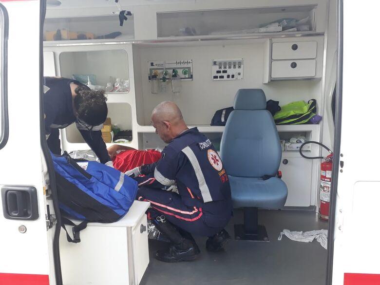 Em coma alcoólico, estudante é socorrido no Terminal Rodoviário - Crédito: Marco Lúcio