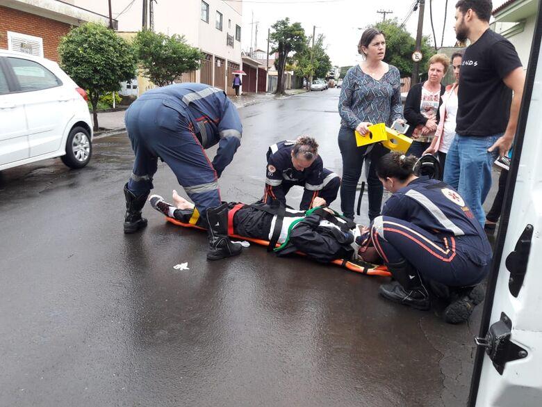 Colisão deixa motociclista ferido no Cidade Jardim - Crédito: Maycon Maximino
