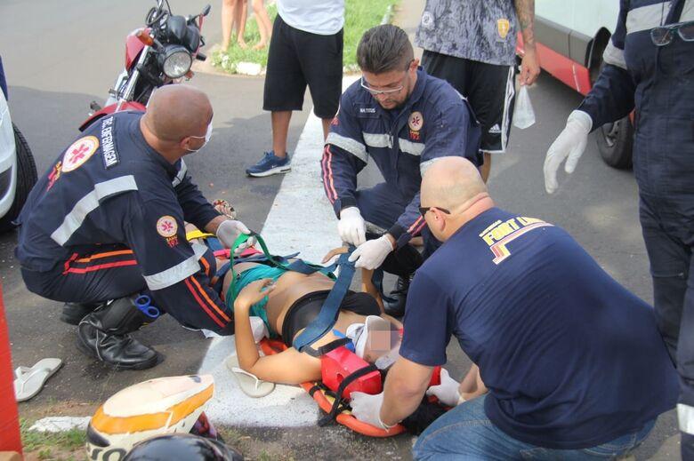 Gestante fica ferida após acidente na Vila Prado - Crédito: Maycon Maximino