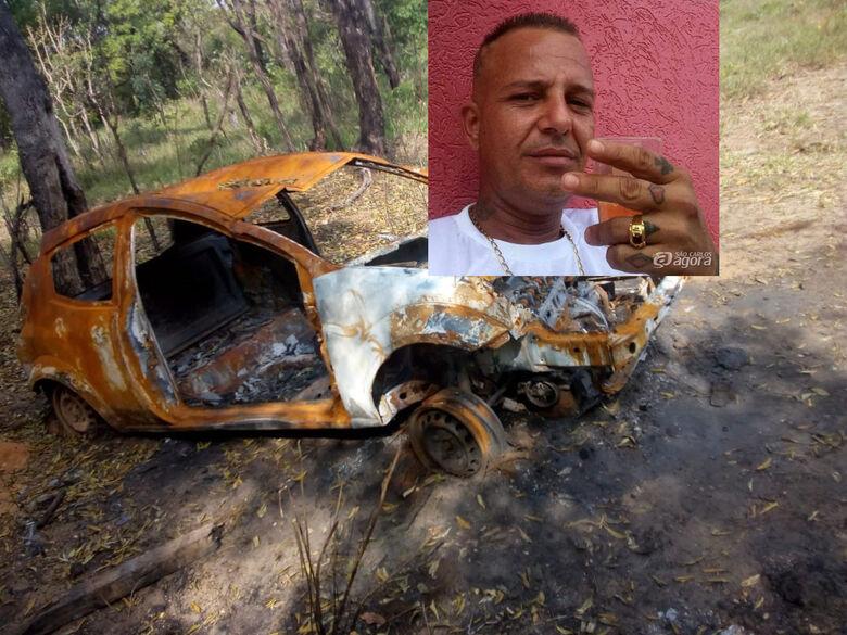 Carro de homem que está desaparecido é encontrado queimado - Crédito: Colaborador/SCA