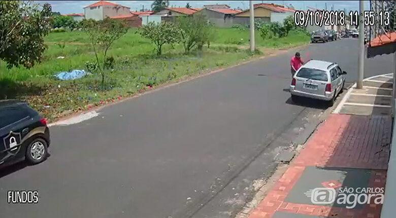 Câmeras de segurança registram furto de Parati no Fagá - Crédito: Divulgação