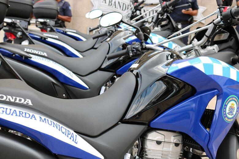 Guarda Municipal recebe quatro novas motocicletas - Crédito: Divulgação
