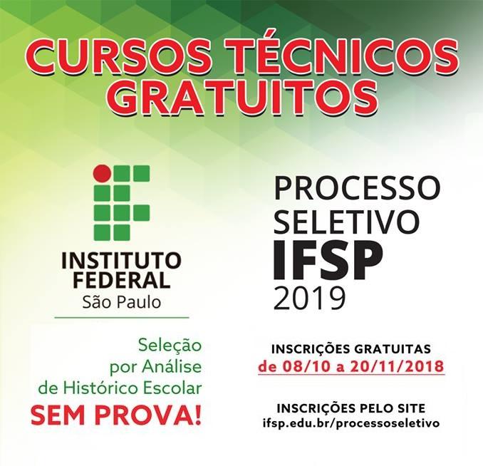 Acisc convida empregados do comércio para se inscrever no Processo Seletivo 2019 do IFSP São Carlos -
