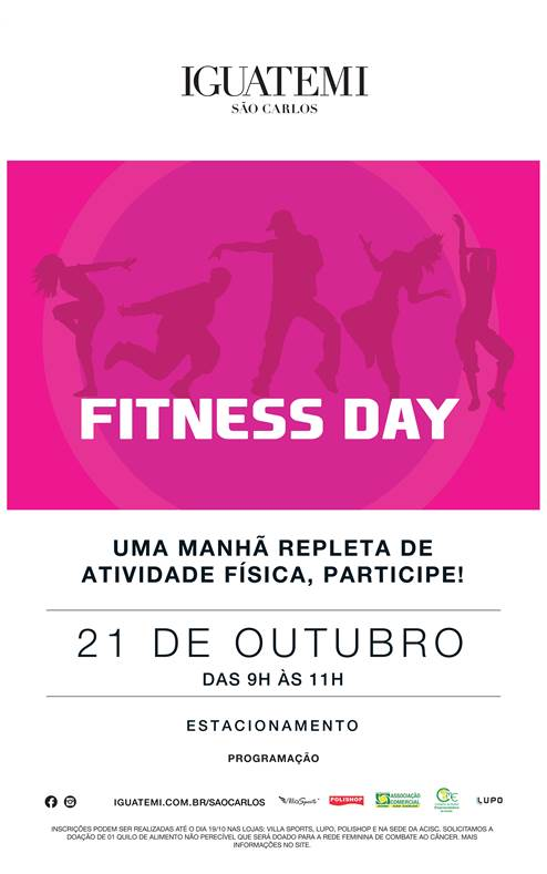 Acisc apoia o 4º Fitness Day de conscientização sobre o Outubro Rosa -