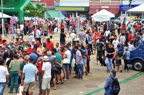 Comércio em Ação da Acisc reúne milhares de pessoas na Praça do Mercado - Crédito: Divulgação
