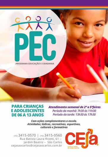 Matrículas abertas para o Programa de Educação e Cidadania -