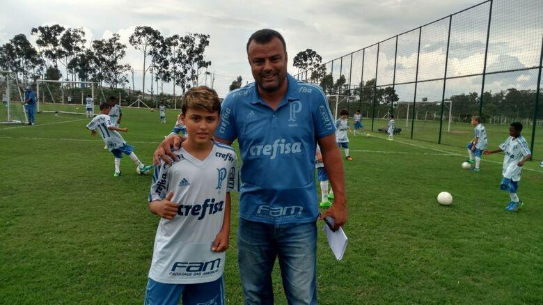 Atleta de São Carlos realiza avaliação no Palmeiras - Crédito: Divulgação