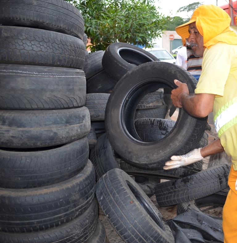 Pneus inservíveis tem novo local de armazenamento em São Carlos - Crédito: Divulgação