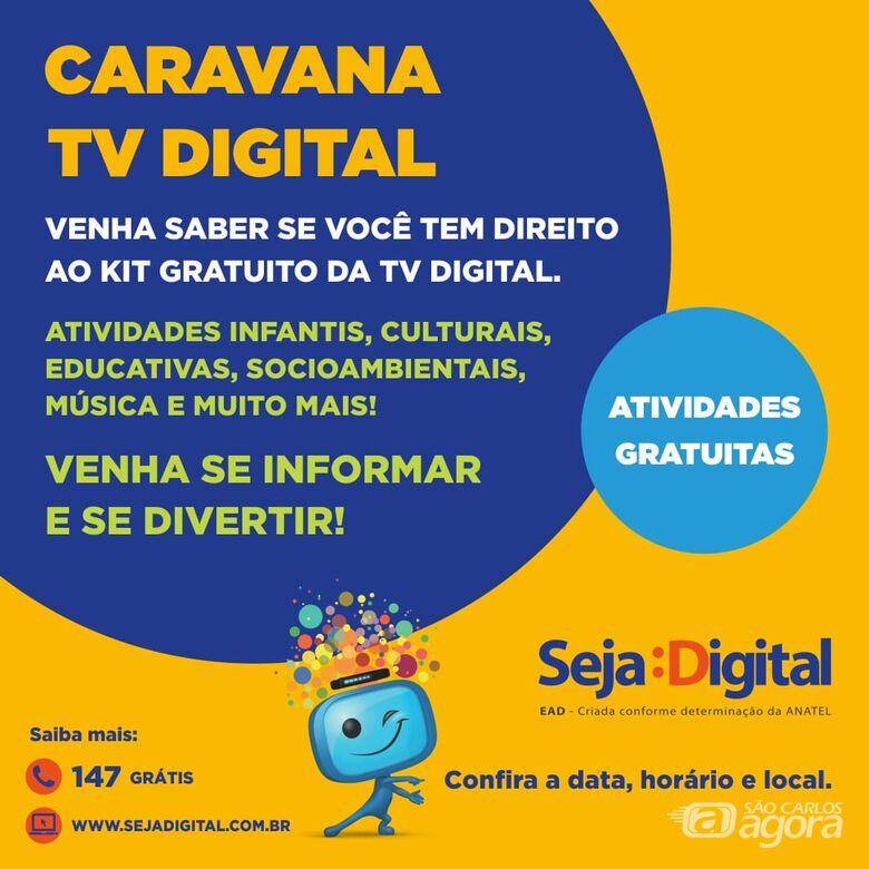 Caravana TV Digital estará em Ibaté -