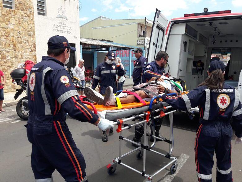 Ciclista sofre queda no Maria Stella Fagá - Crédito: Maycon Maximino