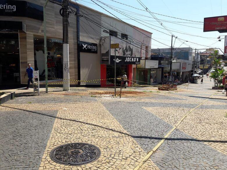 Obras para revitalização do Calçadão da General tem início - Crédito: Maycon Maximino